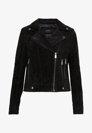 VMROYCESALON SHORT JACKET - Lederjacke - black