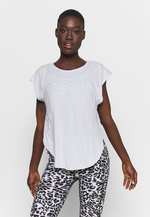 ACTIVE SCOOP HEM - Camiseta básica - grey marle