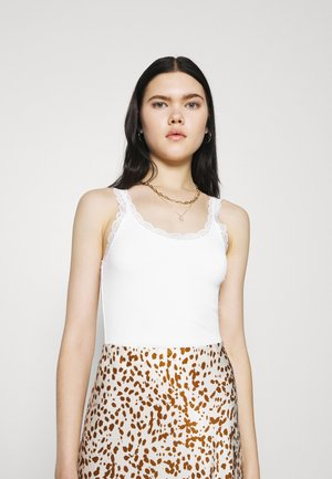 PICOT TRIM VEST - Topper - white