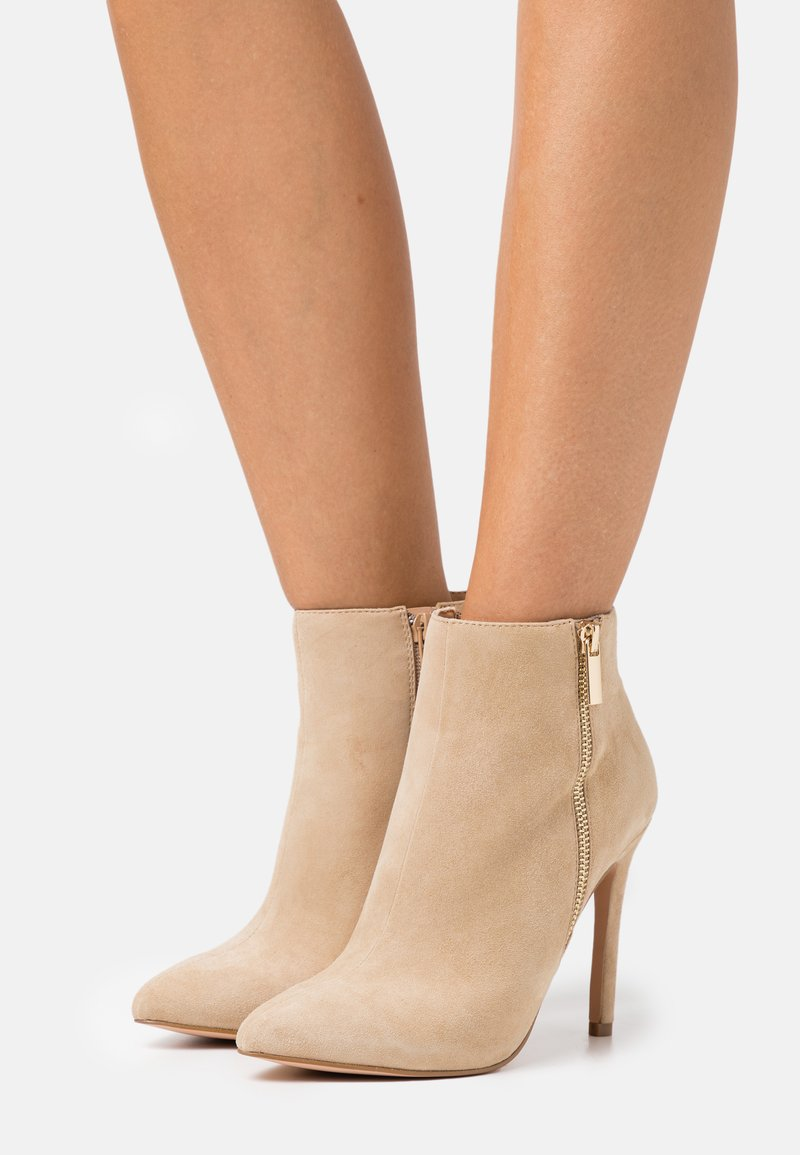Even&Odd Wide Fit - LEATHER - High heeled ankle boots - beige