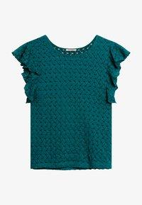 ORSAY - AUS SPITZE - Print T-shirt - kräftiges petrol - 4