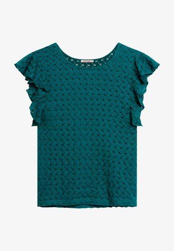 AUS SPITZE - Print T-shirt - kräftiges petrol