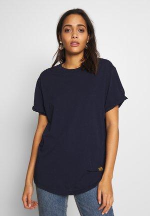 LASH FEM LOOSE ROUND SHORT SLEEVE - Basic T-shirt - sartho blue