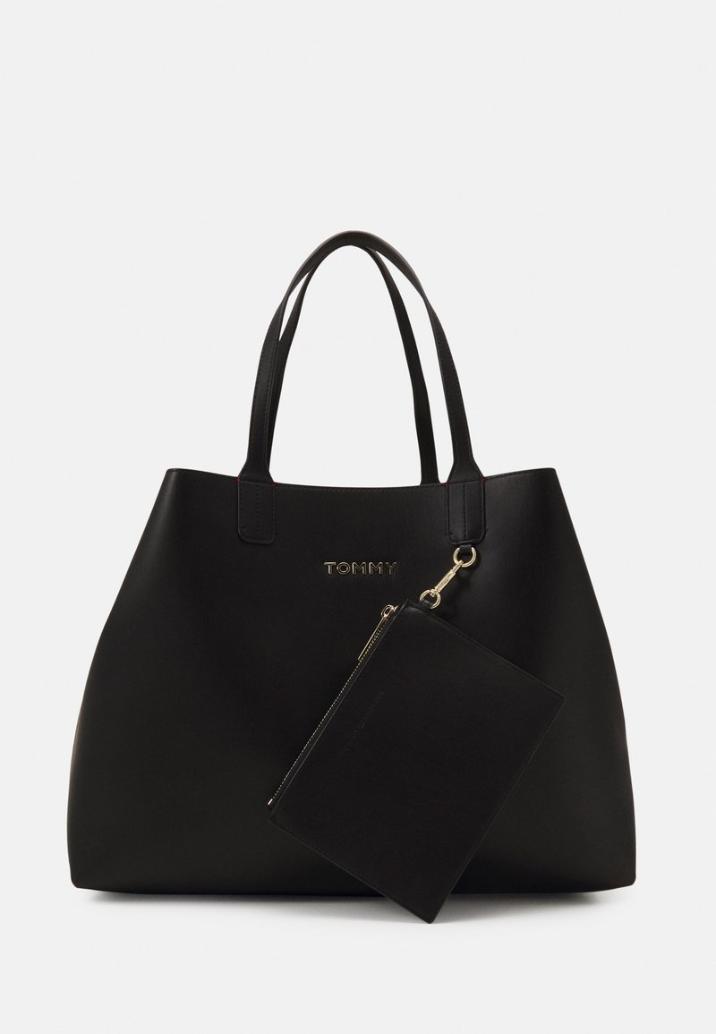 Tommy Hilfiger - ICONIC TOTE SET - Shopping bag - black