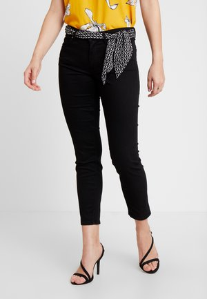 MID WAIST - Trousers - black
