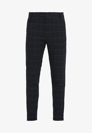 COMO CHECK SUIT PANTS - Kalhoty - dark navy/light brown