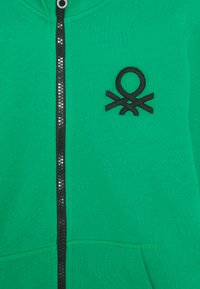Benetton - Mikina na zip - green - 2