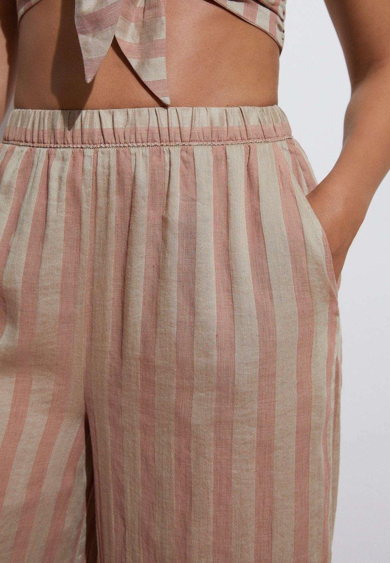 OYSHO - Trousers - brown
