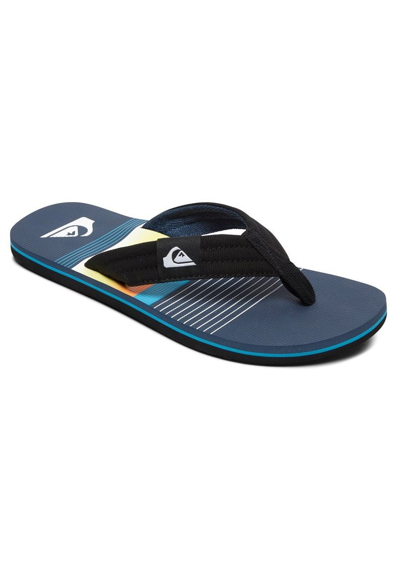 Quiksilver - MOLOKAI LAYBACK - Pool shoes - black/blue/black