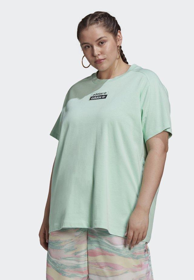 Print T-shirt - frozen green