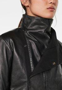 G-Star - COLLAR SLIM - Leather jacket - dk black - 3