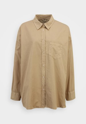 DAD - Button-down blouse - taupe