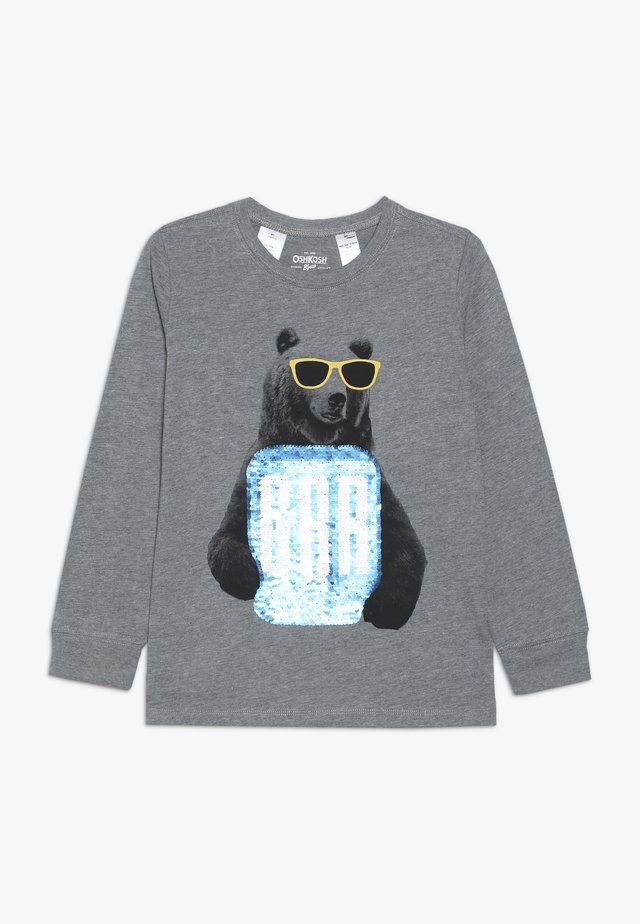 KIDS TIER BASIC TEE - Topper langermet - grey heather