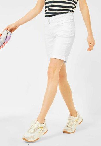 Jeansshort - weiß