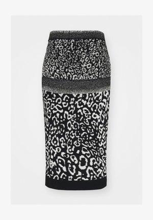 GONNA MAGLIA - Pencil skirt - black
