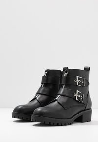 Anna Field - Cowboy/biker ankle boot - black - 4
