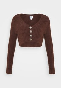 BDG Urban Outfitters - ROCHELLE FLUFFY CARDIGAN - Cardigan - chocolate - 0