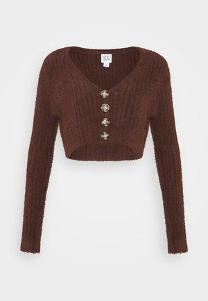 ROCHELLE FLUFFY CARDIGAN - Cardigan - chocolate