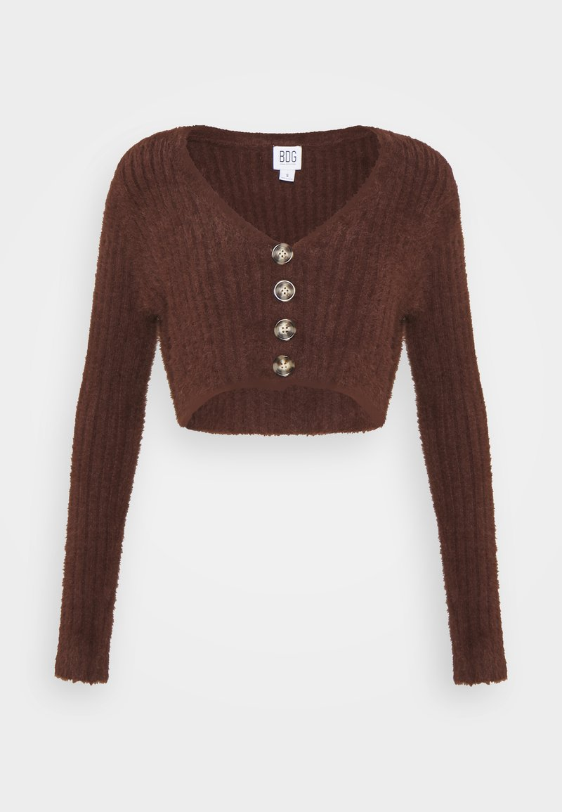 BDG Urban Outfitters - ROCHELLE FLUFFY CARDIGAN - Cardigan - chocolate