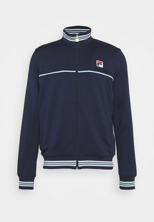 JACKET LIO - Mikina na zip - peacoat blue/white