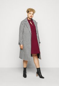 New Look Curves - HERRINGBONE SMOCK DRESS - Denní šaty - rust - 1