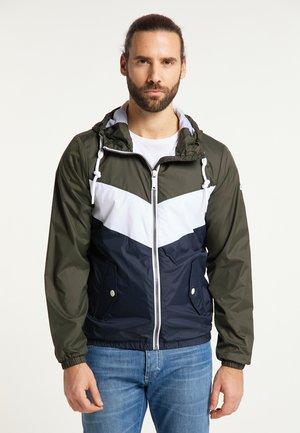 Summer jacket - dunkeloliv nachtblau