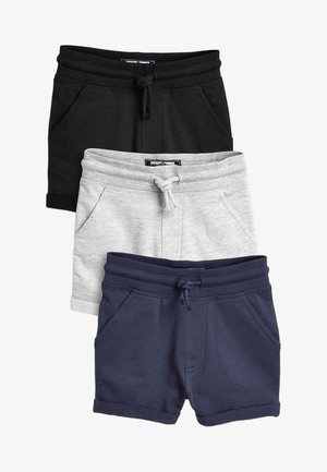 3 Pack - Pantalones deportivos - black /blue/grey