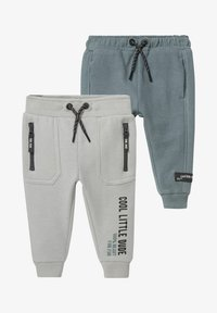 C&A - 2 PACK - Tracksuit bottoms - gray / green - 0