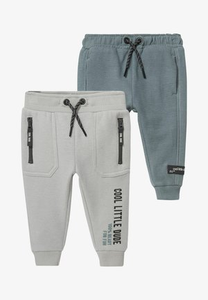 2 PACK - Tracksuit bottoms - gray / green