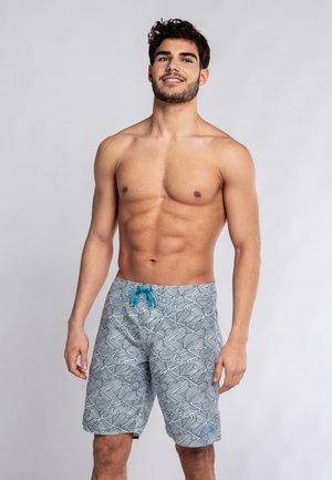 MYRTOS - Swimming shorts - green/white