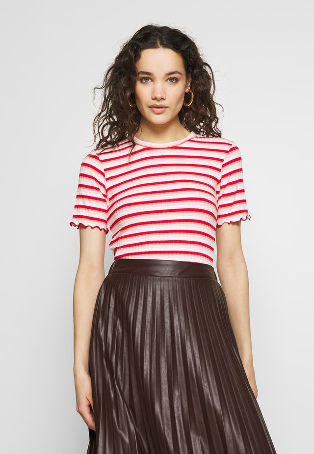 STRIPY TUBA FRILL - Print T-shirt - red/multi