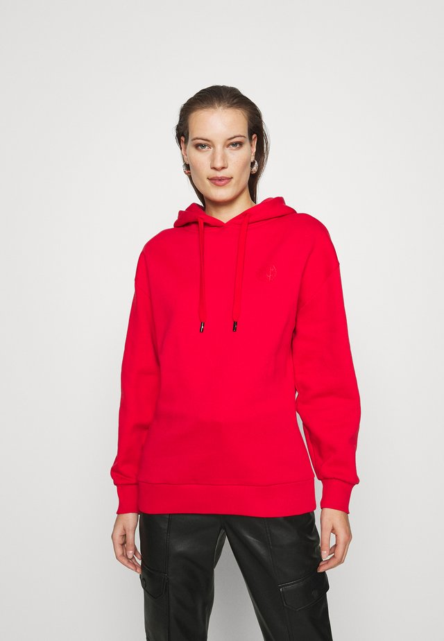 ROUND ART HOODIE - Huppari - rough red