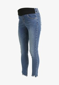 Topshop Maternity - JAMIE JAGGED HEM - Jeans Skinny Fit - blue denim - 3