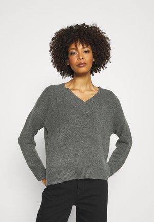 Sweter - mottled dark grey