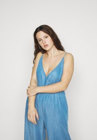Simply Be - STRAPPY WRAP CULOTTES - Combinaison - mid blue - 4