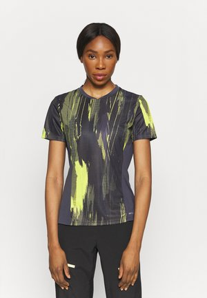 INDIVIDUAL CUP GRAPHIC - Camiseta estampada - puma black/asphalt/soft fluo yellow
