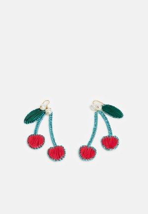 CHERRY EARRING - Náušnice - crisp begonia