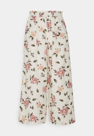 WIDE LEG CULOTTE - Trousers - cream