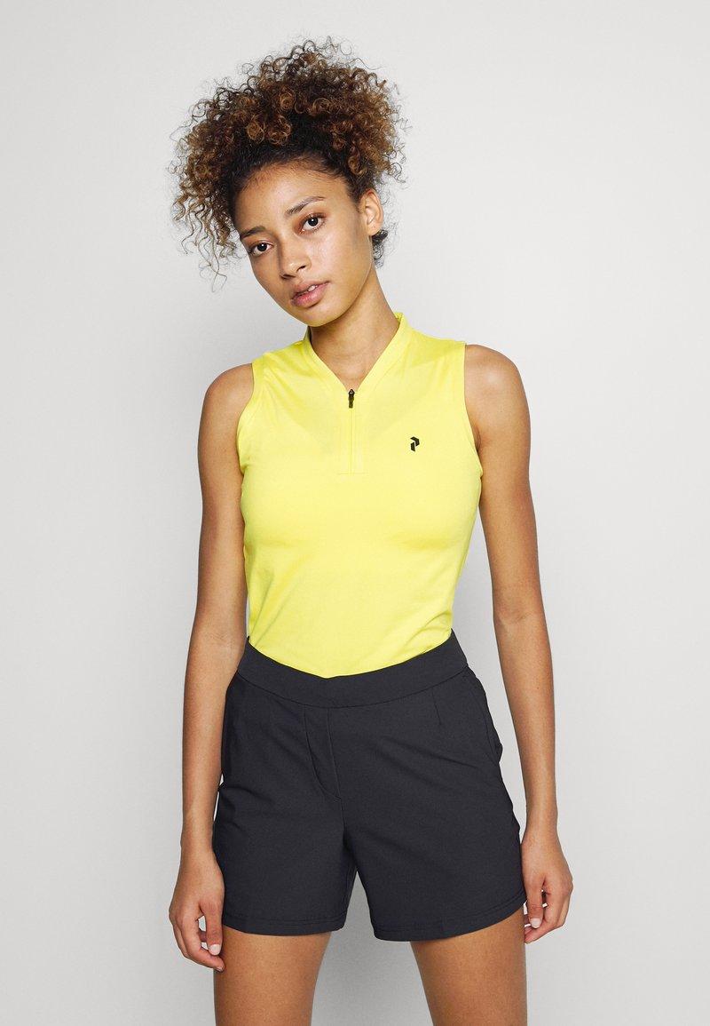 Peak Performance - TURF ZIP  - Polo shirt - citrine