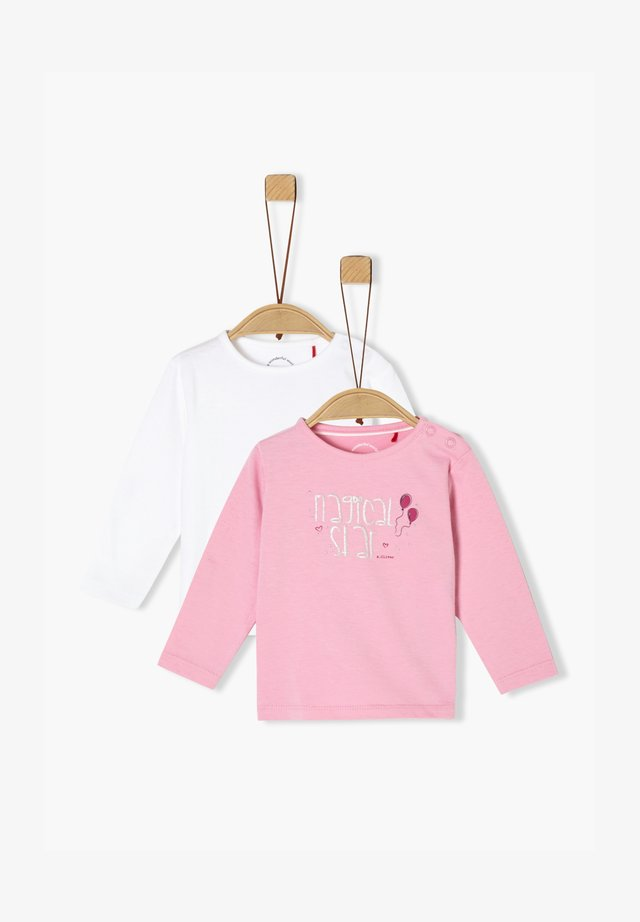 Long sleeved top - white/light pink