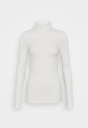 WIDE ROLL NECK - Longsleeve - white