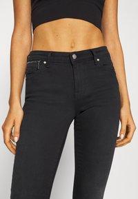 ONLY - ONLISA4 LIFE REG ZIP - Jeans Skinny Fit - black denim - 3