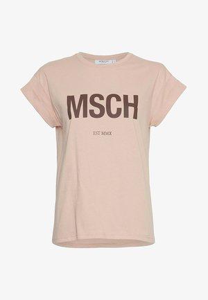 SEASONAL - Print T-shirt - rose/roast