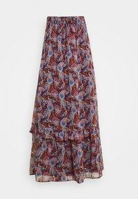 Vila - VIFALIA WIDE MAXI SKIRT - Maxi skirt - winetasting blue - 3