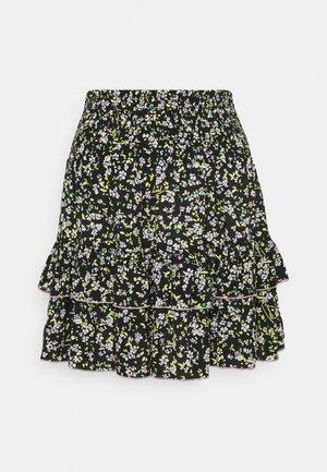TJW SMOCKED WAIST FLORAL SKIRT - Mini skirt - floral print