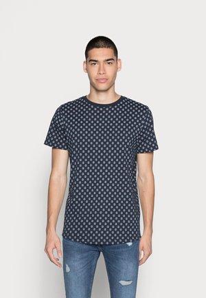JJROSS TEE CREW NECK - Printtipaita - navy blazer
