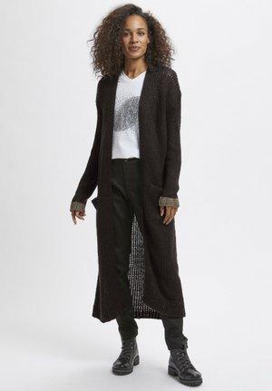 KAMERLA - Short coat - black w gold lurex