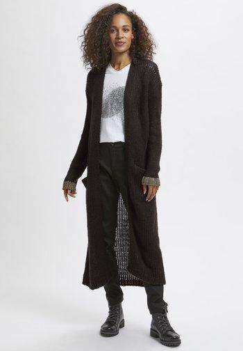 KAMERLA - Krótki płaszcz - black w gold lurex