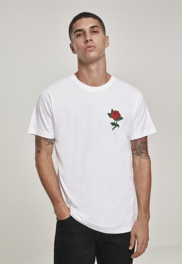 ROSE TEE - T-shirt print - white