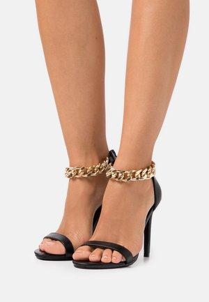 TEIGAN REMY - Sandalen met hoge hak - black